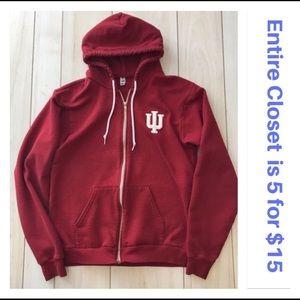 IU Indiana University Full-Zip Hoodie Sweatshirt
